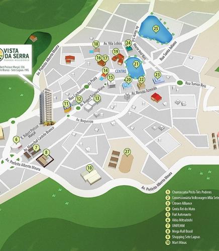 Mapa ilustrado Vista da Serra